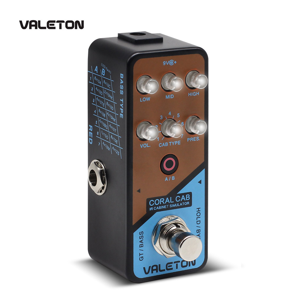 Valeton IR Cabinet Simulator Coral Cab of 28 Guitar Bass Cabs Throughout History of Rock N