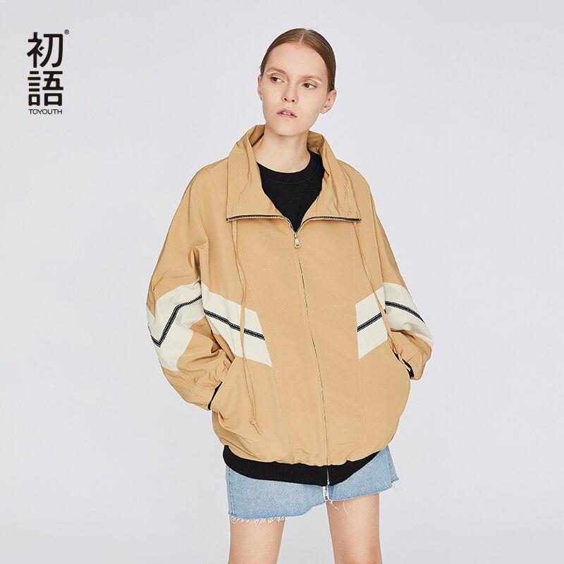 Toyouth Womens Bomber แจ็คเก็ตหลวม Streetwear ฤดูใบไม้ร่วงหญิงแฟชั่นเสื้อ Harajuku สั้นแฟนเสื้อ Mujer Chaquetas Abrigo-ใน แจ็กเก็ตแบบเบสิก จาก เสื้อผ้าสตรี บน   1