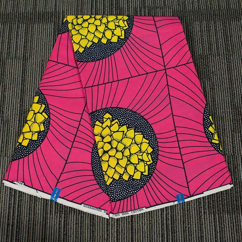 Pink Nigerian Wax Cloth Fabric For Women Dress Men Blazer 2019 New African National Printed Batik Cloth Fabric