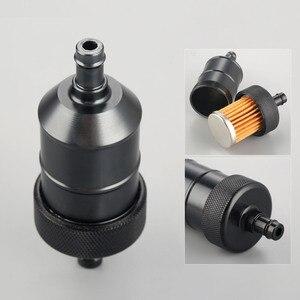 Image 1 - 5 видов цветов мотоциклетный 8 мм бензиновый газ топливный фильтр очиститель CNC алюминий для мотоцикла питбайка мотовездехода квадроцикла встроенный масляный топливный фильтр