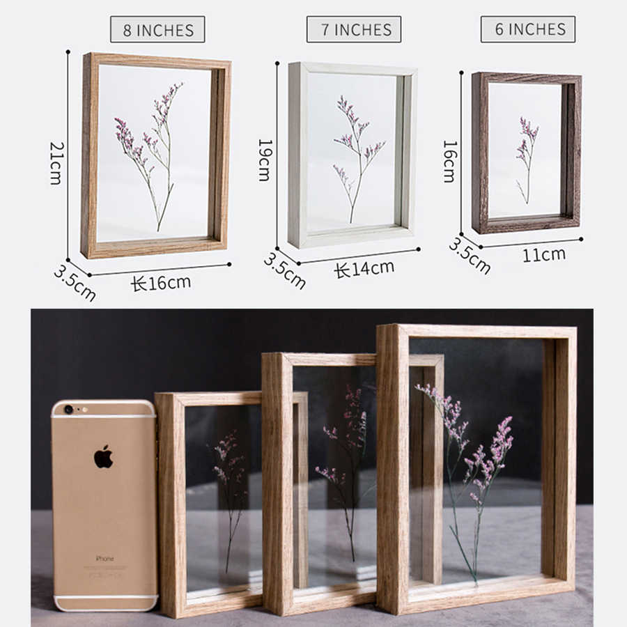 Diy Picture Frame Glass Sufeile Hd Glass Specimen Photo Frame Diy Plant Specimen Photo Frame Wooden Creative Decorative Frame 10 Inch 8 Inch D50