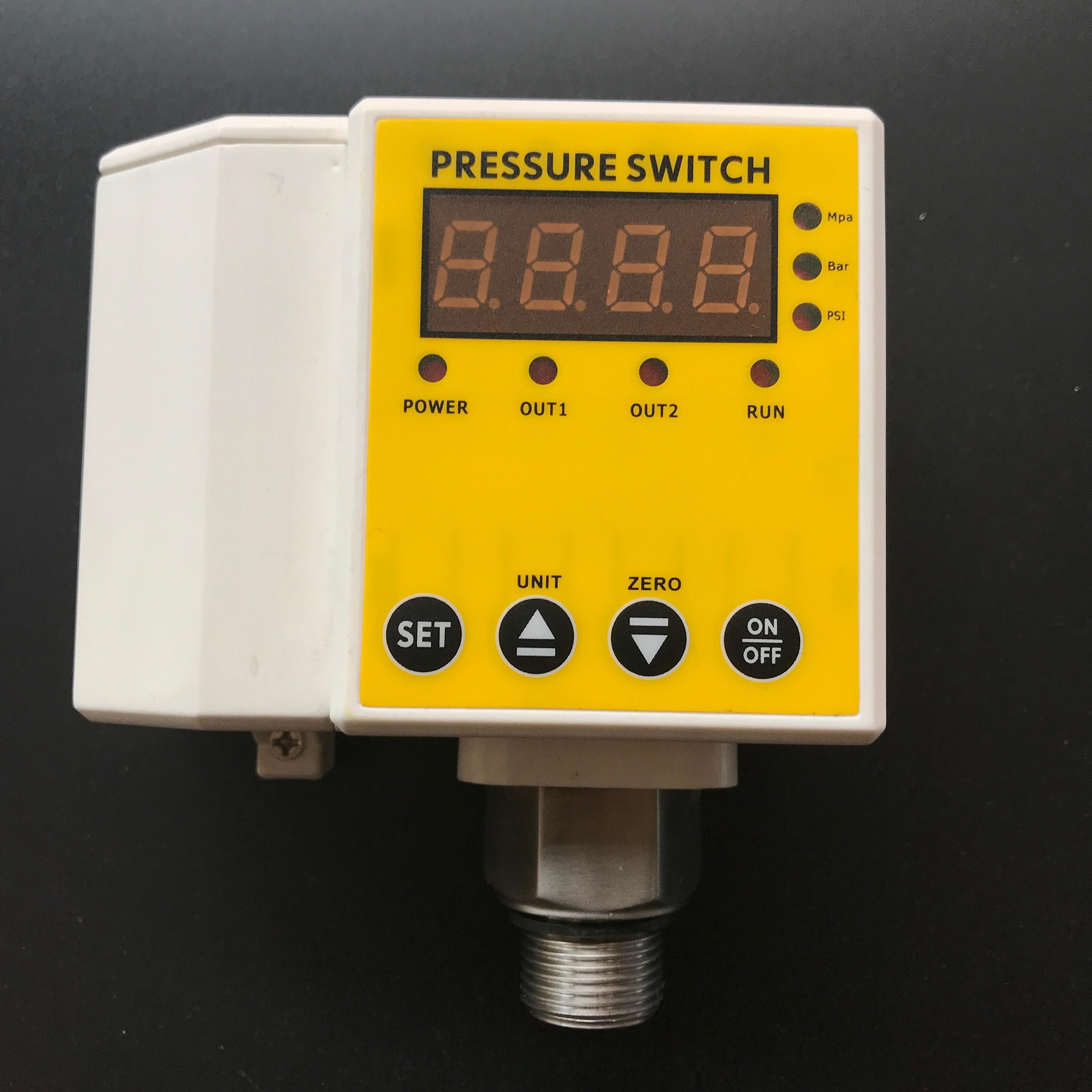 MD-S650 intelligent digital pressure switch electrical contact pressure gauge dual-group hydraulic switch Accuracy of 0.5% md s910 digital pressure controller digital pressure gauge digital pressure switch range 0 1 6mpa m20x1 5 ac220v