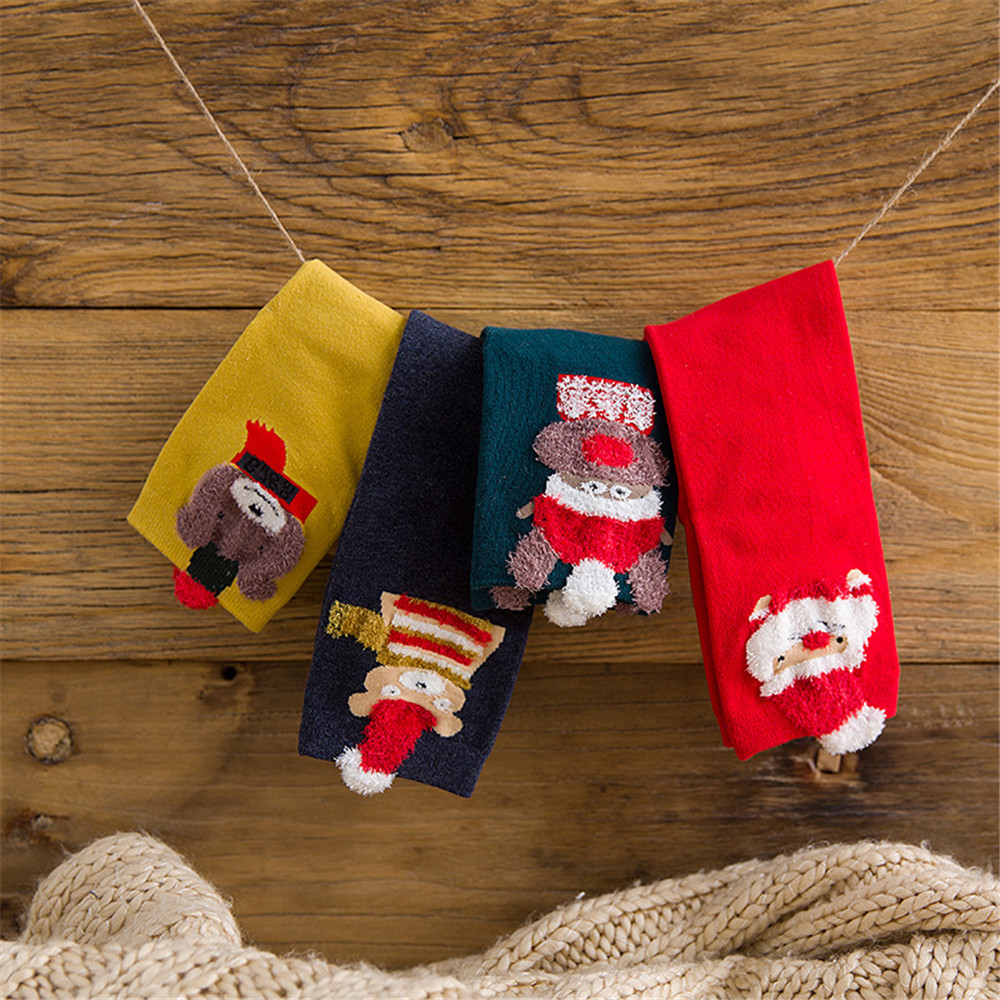 Comfortable Christmas Cotton Sock Slippers Breathable Short  Print Ankle Socks Socquette Exquisite Soxs Flawless Hocok #VD1071