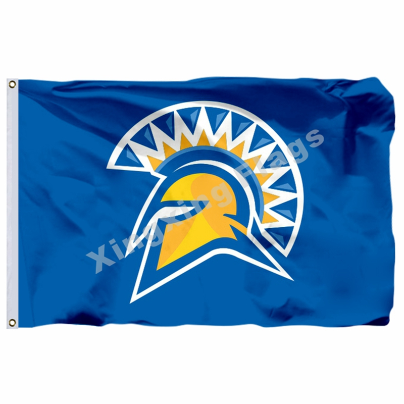 San Jose State Spartans Flag 3ft X 5ft Polyester NCAA Banner San Jose State Spartans Fly ...