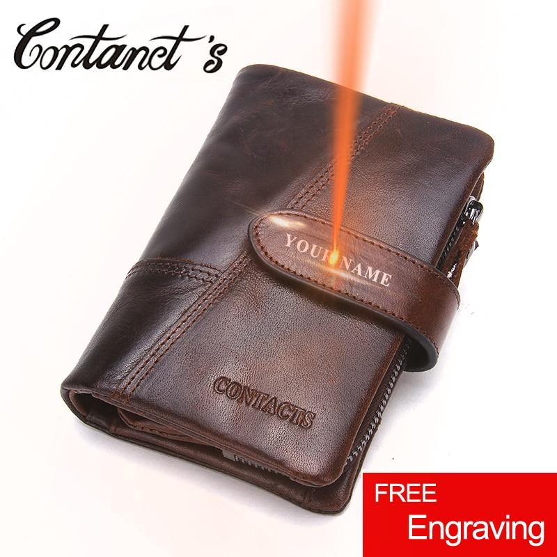 все цены на Retro Wallet For Men Genuine Leather Vintage Brand Male Clutch Bag Design Removed Coin Purse Zip&Hasp Credit Card Holder 4 Color