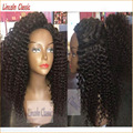 Soft 150density Virgin Mongolian Full Lace Wigs Kinky Curly Human Hair Glueless Lace Front Kinky Curly Wig With Natural Hairline