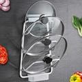Держатель для кухонной кастрюли с крышкой  настенная подставка для кастрюли с сливным лотком  Бесплатная штамповка  подвесная доска для рез...