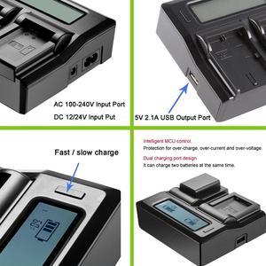 Image 3 - Dla SONY NP FW50 NP FW50 aparat bateria + szybkie LCD ładowarka do Sony Alpha a6500 a6300 a6000 a5000 a3000 NEX 3 a7R a7S NEX 7