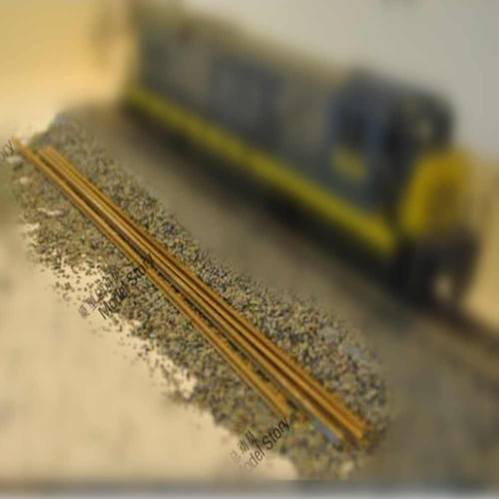Scale 1:87 HO model train track construction scene Sand table railway  around with plastic rail