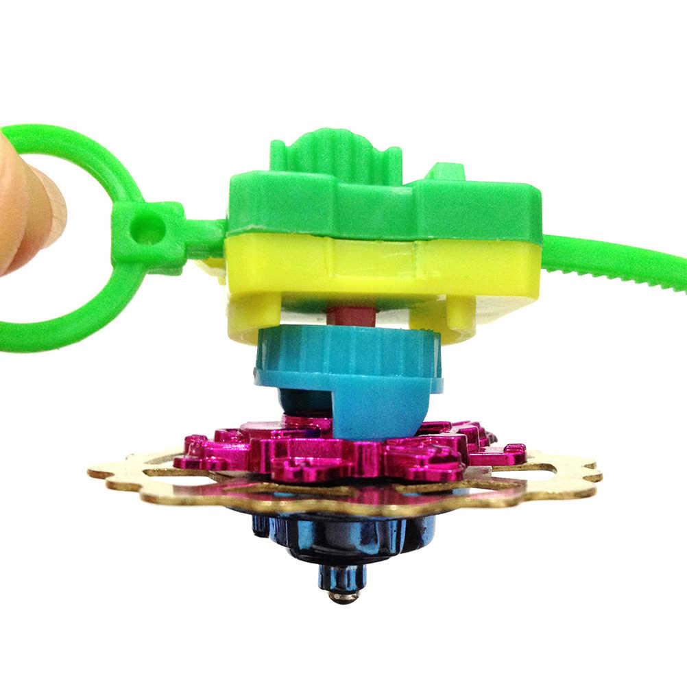 Novo giroscópio magia 3d giroscópio brinquedos girando superior puxar haste crianças menino menina garoto 3d direita esquerda rotativa metal chapeamento novidade presente