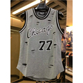 Yeezy Fresco chicago jersey 77 Tank Tops hip hop hiphop Moda cruz Agujeros extendido chaleco ropa de hip-hop