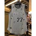 Yeezy Legal chicago jersey 77 Regatas hip hop Moda hiphop Buracos cruz estendido colete roupas hop
