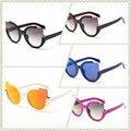Fashion Cat Eye Sunglasses Women Individual Design Sunglasses Multicolor 2016 Hot Sale