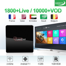 IPTV France Arabic QHDTV 1 Year IP TV Leadcool X Android 7.1 1G+8G S905W French IPTV 1 Year Subscription IP TV France Arabic Box iptv subscription iptv 1 year ip tv box android s905w 4k iptv arabic france belgium netherlands algeria lebanon tunisia ip tv