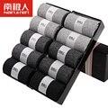 Calcetines de Estilo de negocios 2016 Marca Tamaño Libre 10 unids/lote Estilo Puro de Alta Calidad Calcetines de Algodón Para Hombre de Negocios de Los Hombres Clásicos Venta caliente