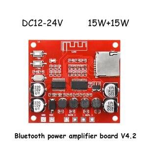 Image 3 - 15 W * 2 Bluetooth wzmacniacz Audio pokładzie Stereo Bluetooth dekoder 4.2 bezstratnej odbiornik karty TF wejście