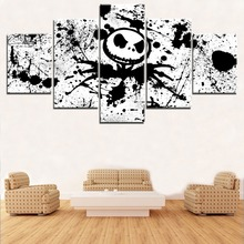 Modern Artwork 5 Pieces Movie The Nightmare Before Christmas Jack Poster Home Decor Wall Art Modular Pictures For Living Room