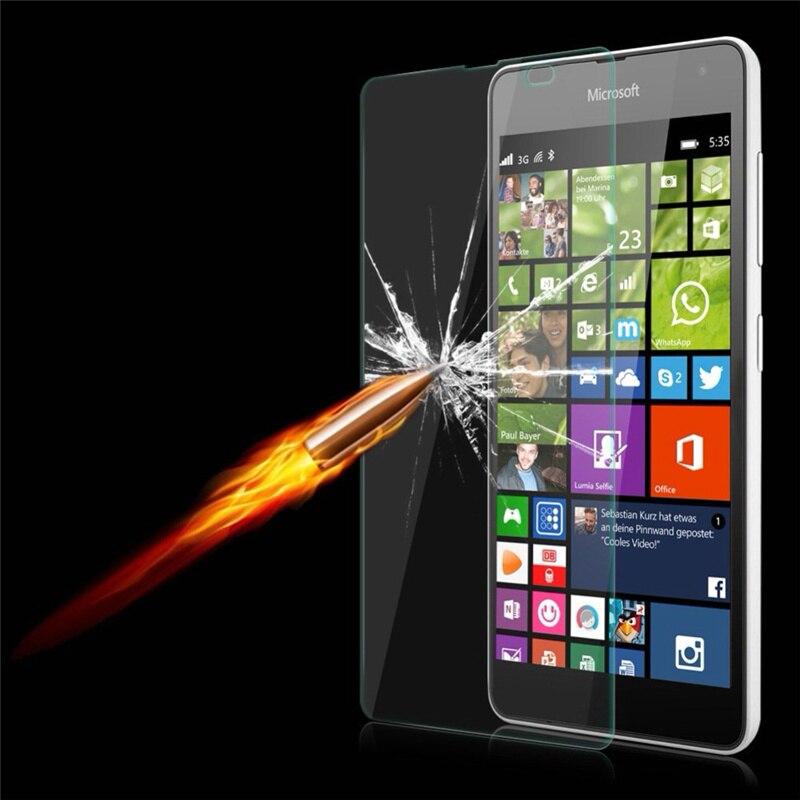 9H Ultra Thin Tempered Glass Screen Protector <font><b>Case</b></font> For <font><b>Microsoft</b></font> Nokia Lumia 535 650 550 640 <font><b>Case</b></font> XL 630 635 <font><b>950</b></font> 435 Dual SIM