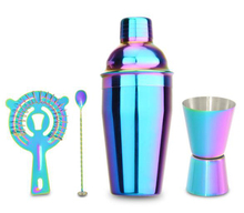 High Quality 550ml Colorful Coacktailshaker BS-55S(PN:C55-4-CO-21) Cocktail Set with 4 Pieces of Stainless Steel Bar in KTV