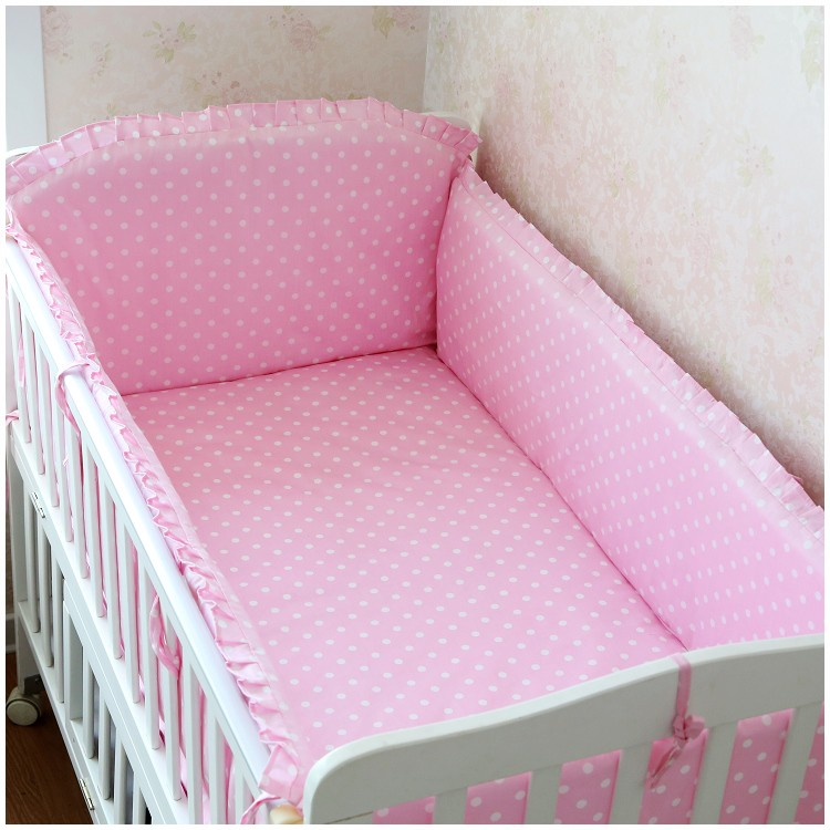 Promotion! 6PCS Baby Cot Bedding Sets,Infant Bedding Set Baby Crib Set, (bumpers+sheet+pillow cover) promotion 6pcs cot bedding set for girls boys baby crib bedding set bumpers sheet pillow cover
