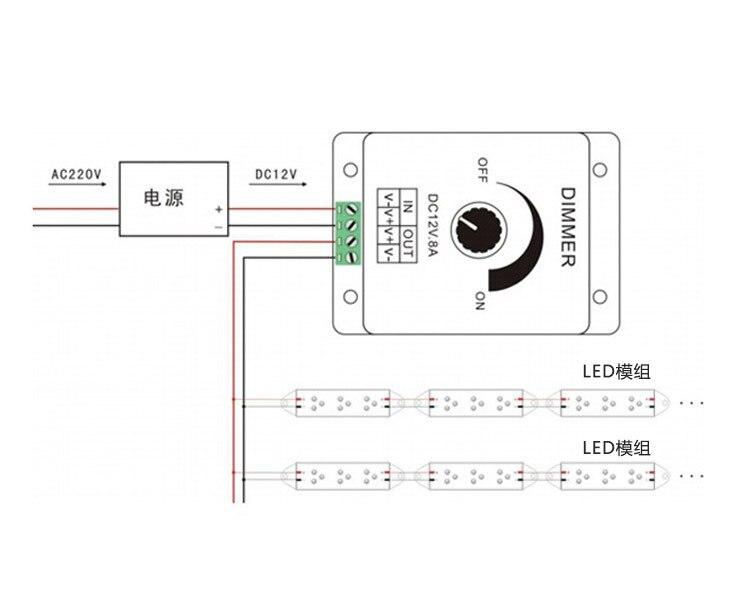 Cor Dimmer Para Lâmpada LED Spot Recesso