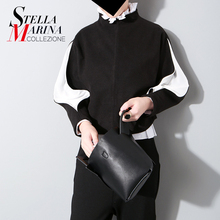 New 2016 European Woman Autumn Winter Pullover Black Grey Turtleneck Long Sleeve Zipper Sweater Blouse Casual Tee Top Style 727