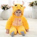Fashion Halloween Tutu Romper Yellow Hooded Onesie Baby For 0-23 Months Baby Boy Winter Clothes KJ-16009