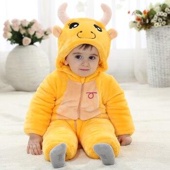 Fashion Halloween Tutu Romper Yellow Hooded Onesie Baby For 0-23 Months Baby Boy Winter Clothes KJ-16009