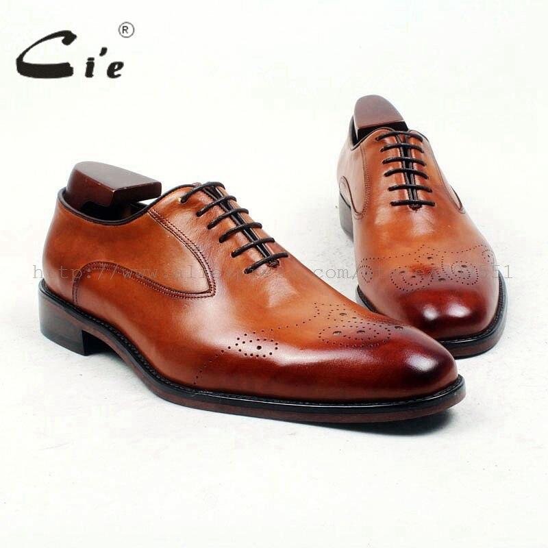 CIE Бесплатная доставка, сшитые на заказ ручной работы Для мужчин; до середины икры Кожаные модельные туфли Цвет коричневый обуви No. ox436 Цвет м...