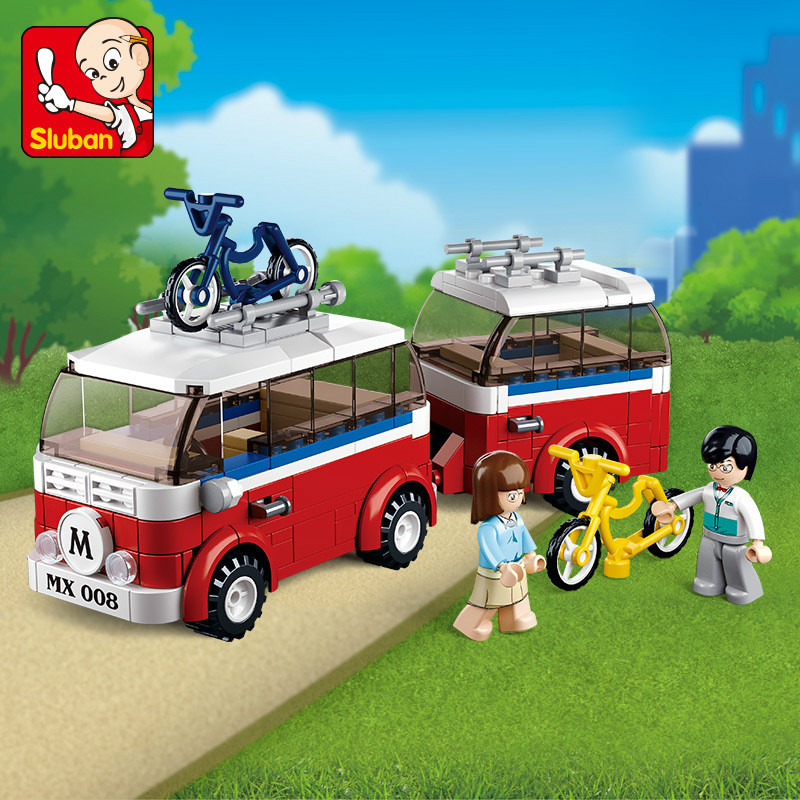 324Pcs Motorhomes camper SimCity Gift for Boys educational Toys Building Blocks Bricks Educational Toys Gift image