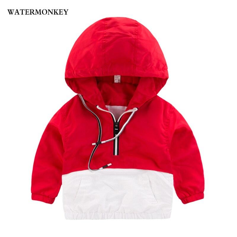 Мальчики с капюшоном ветровка 2018 Демисезонный дети мода Повседневное твердой головы детей хит детская Цвет куртки пальто 2-6Yr