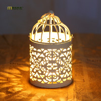 1PC 2016 Zakka Creative Cage Candle Holder Ornaments European Style Decor Home Furnishing Candlestick Wholesale J1137