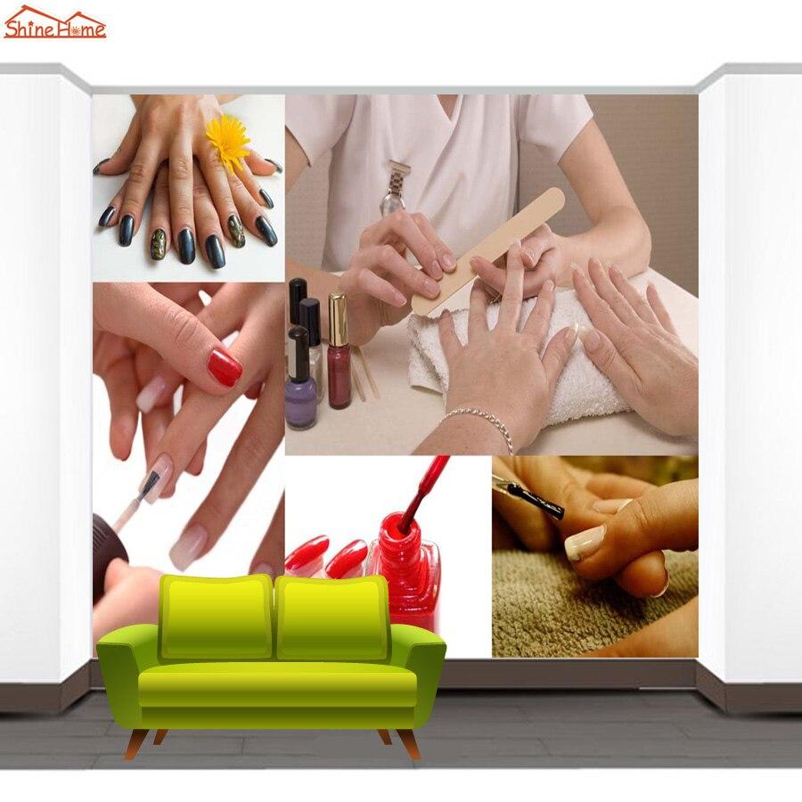 Shinehome SPA Nagel Fuß Salon Art Kosmetische 3 d Tapete für raum 3d ...