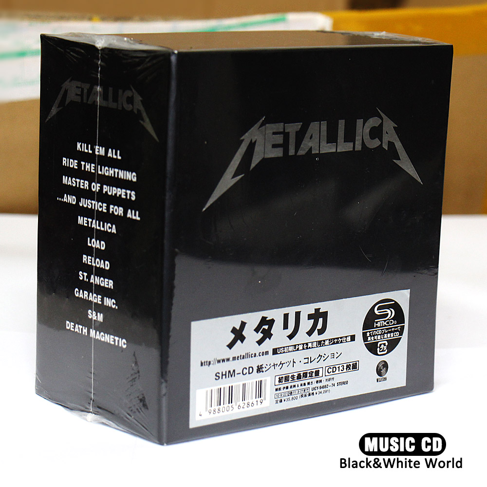 The Metallica Album Collection 13 Album CD Box Set SEALED--Japanese version Ultimate Deluxe Edition 13CD New Sealed цена 2017