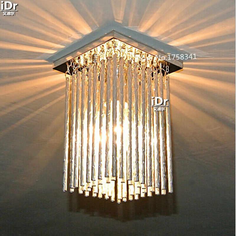 Новый E14 Современные хромированные люстры L120mm Спальня коридор огней освещения 0129
