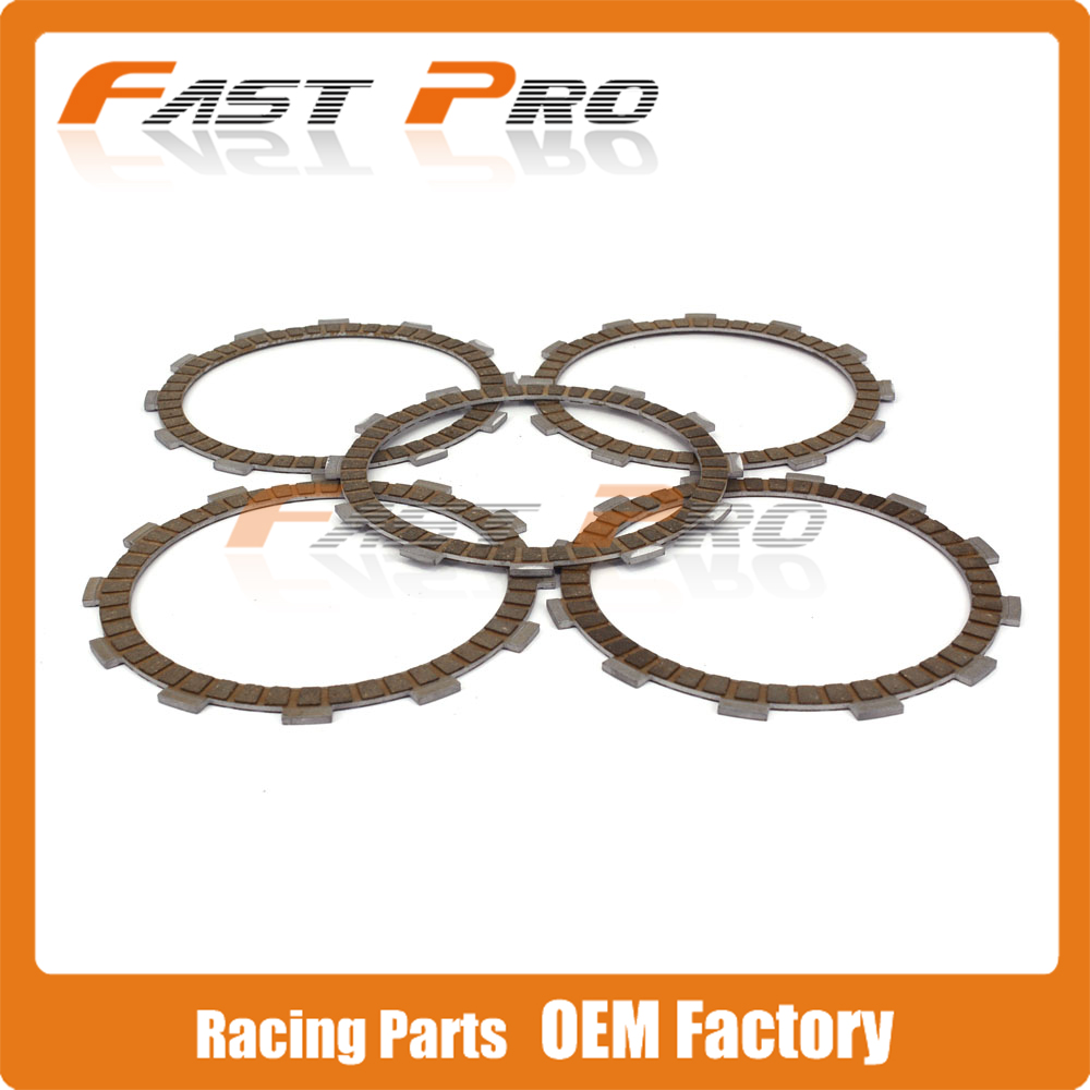 Motorcycle 5 Pieces Engine Clutch Disc Friction Plate For ZS177MM ZONGSHEN NC250 KAYO T6 K6 BSE J5 RX3 ZS250GY-3 4 Valves PartsMotorcycle 5 Pieces Engine Clutch Disc Friction Plate For ZS177MM ZONGSHEN NC250 KAYO T6 K6 BSE J5 RX3 ZS250GY-3 4 Valves Parts