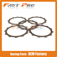 Motorcycle 5 Pieces Engine Clutch Disc Friction Plate For ZS177MM ZONGSHEN NC250 KAYO T6 K6 BSE J5 RX3 ZS250GY 3 4 Valves Parts