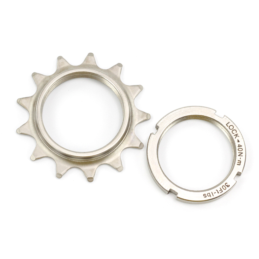 MYN Bike Bicycle Lockring Fixed Gear Track Sprocket Cassette Hub Lock Ring Red