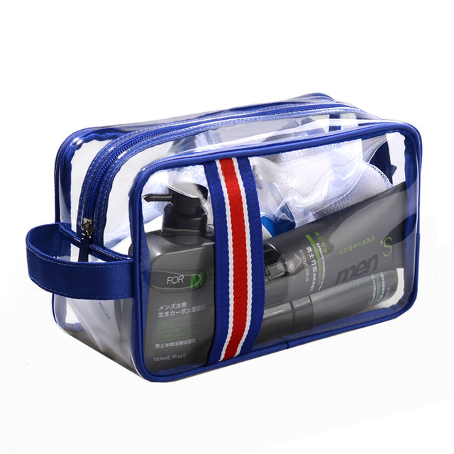 Men's Women's Business Makeup Pouch High Quality Waterproof Transparent Travel Cosmetic Bag Toiletries Wash Organizer Accessory