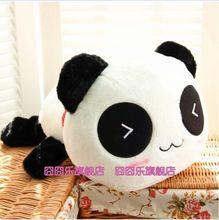 cute lying panda toy classic expression panda doll plush panda doll gift about 45cm