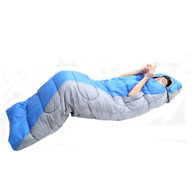Hot Outdoor Sleeping Bag Portable Single Camping Travel Sleep Ultralight Hiking