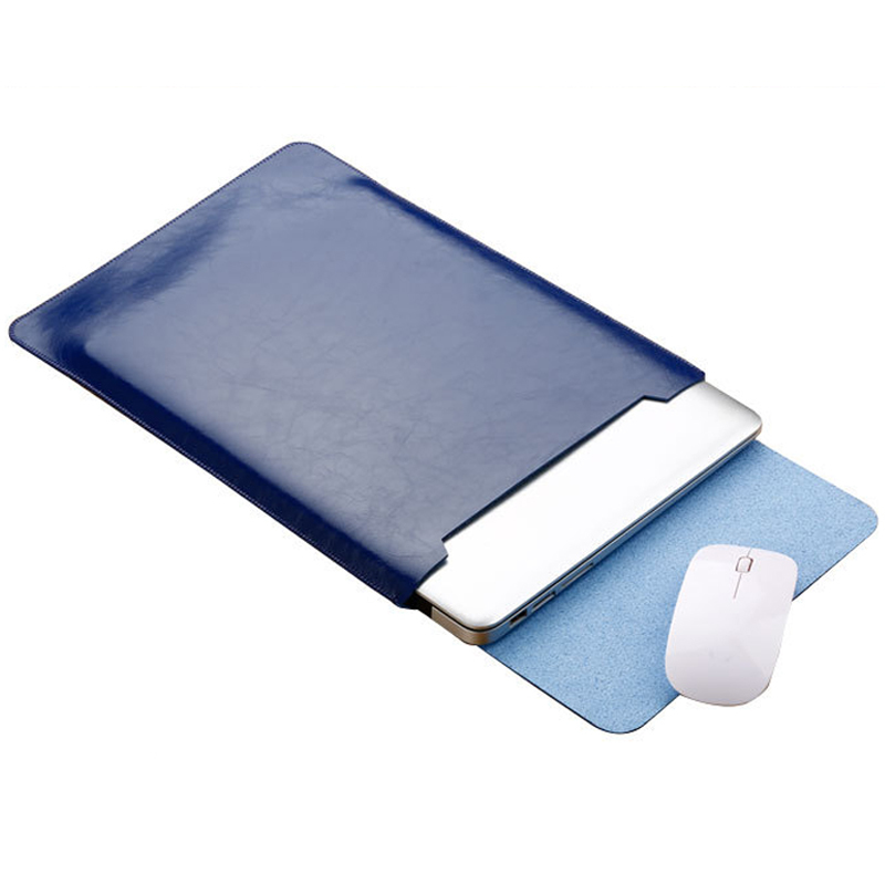 Image 3 - Notebook Case Mouse Pad Pouch For Xiaomi Macbook Air 11.6 12 13 Cover Retina Pro 13.3 15 15.6 Fashion Laptop Sleeve Leather Bag-in Laptop Bags & Cases from Computer & Office