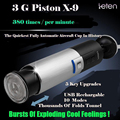 Leten X9 Piston Hands Free 10 Function Retractable USB Rechargeable Male Automatic Masturbator, Sex Products Adult Sex Toys