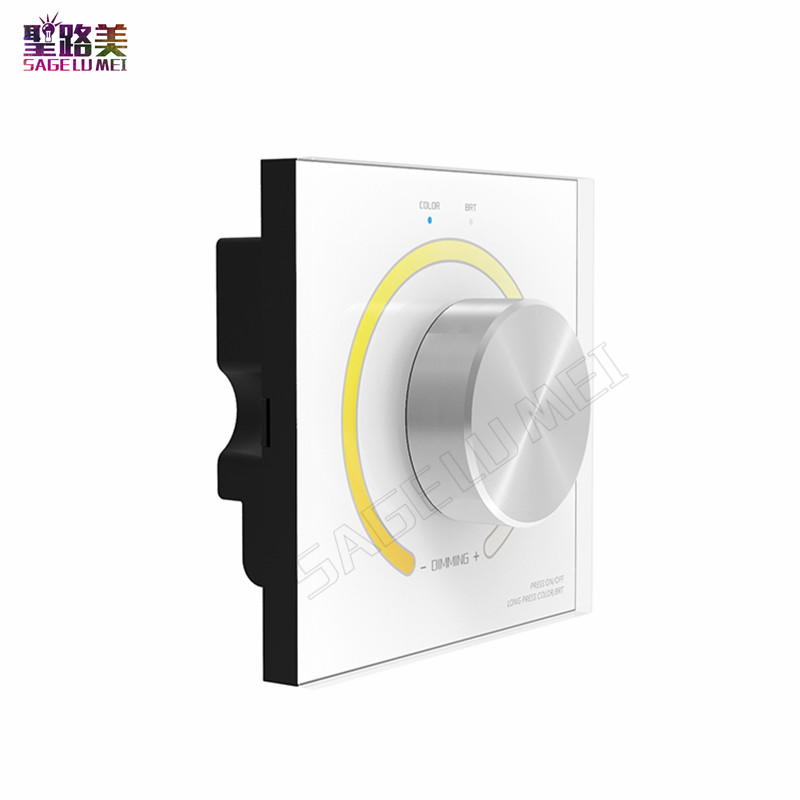 AC110V-240V DX62 Wall Mount 2.4G RF Wireless LED Color Temperature Controller Dimmer DMX512 Signal for Dual White LED Strip Tape ac110v 240v dx62 wall mount 2 4g rf wireless led sync cct color temperature controller dmx512 signal ouput for dual white strip