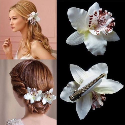 3 5 Black Flower Hair Clip With Flower Center: Aliexpress.com : Buy Bohemia Style Bridal Flower Orchid