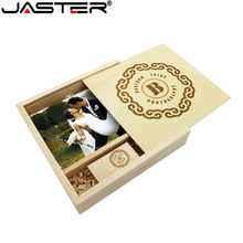 JASTER promotion 170/170MM laser engraving Photo frame+usb 1pcs free logo 64GB External Storage 32GB 16GB 8GB 4GB thumb drive(China)