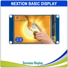 "2.8 ""NX3224T028 Nextion בסיסי HMI חכם USART UART סידורי Resistive מגע TFT LCD מודול לוח תצוגת Arduino פטל pi"