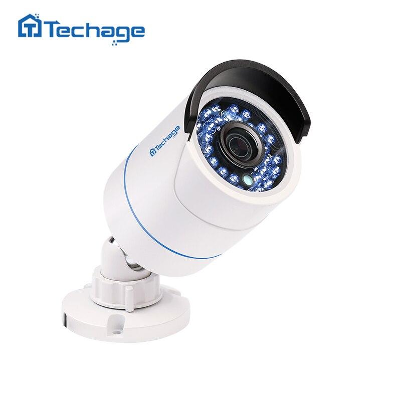 Techage DE SEGURIDAD 720 p 960 P 1080 p 48 V POE Cámara 2MP impermeable al aire libre IR noche P2P ONVIF video vigilancia CCTV cámara IP