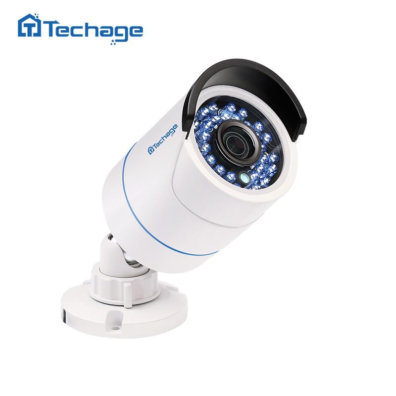 Techage Home Security 720 p 960 p 1080 p 48 v POE Della Macchina Fotografica Coperta Esterna Impermeabile 2MP P2P ONVIF Video di sorveglianza CCTV Macchina Fotografica del IP