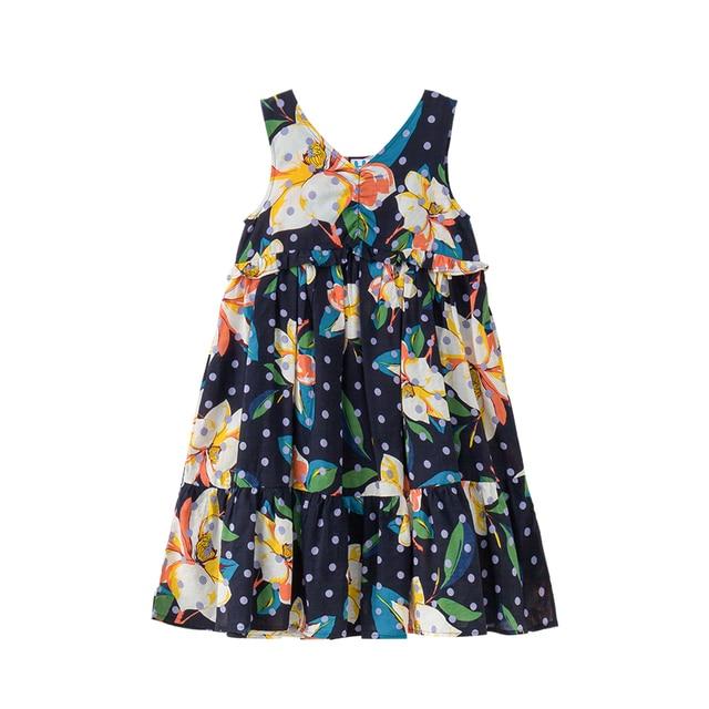 98cd0b40d B S184 Summer New Fashion Girls Casual Dresses Kids Floral Printing ...